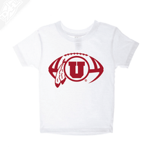 Load image into Gallery viewer, Circle and Feather Football Single Color- Infant/Toddler Shirt