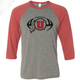 Circle and Feather Football - 3/4 Sleeve Baseball Shirt