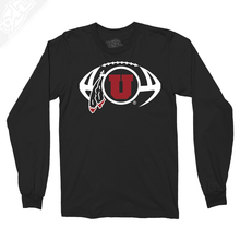 Load image into Gallery viewer, Circle and Feather Football - Long Sleeve