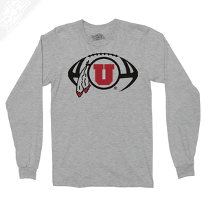 Circle and Feather Football - Long Sleeve