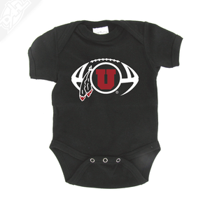 Circle and Feather Football - Onesie
