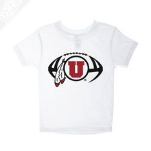 Load image into Gallery viewer, Circle and Feather Football- Infant/Toddler Shirt
