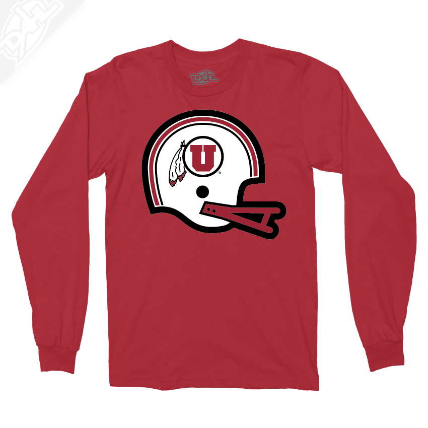 Circle and Feather Vintage Helmet - Long Sleeve