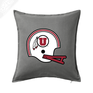 Circle and Feather Vintage Helmet - Pillow