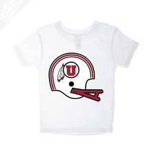 Load image into Gallery viewer, Circle and Feather Vintage Helmet- Infant/Toddler Shirt