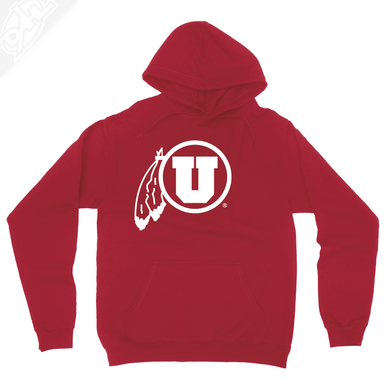 Circle and Feather Single Color - Hoodie