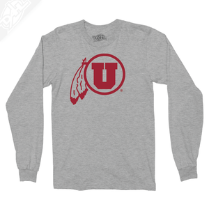 Circle and Feather Single Color - Long Sleeve