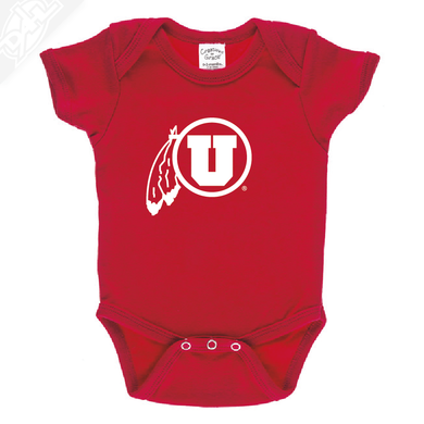 Circle and Feather Single Color - Onesie
