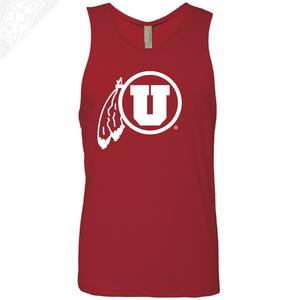 Circle and Feather Single Color- Mens Tank Top