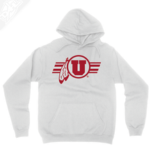 Load image into Gallery viewer, Circle and Feather w/Utah Stripe Single Color - Hoodie