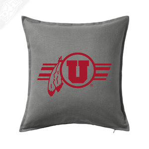 Circle and Feather w/Utah Stripe Single Color - Pillow