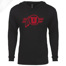 Load image into Gallery viewer, Circle and Feather w/Utah Stripe Single Color - T-Shirt Hoodie