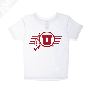 Circle and Feather w/Utah Stripe Single Color- Infant/Toddler Shirt