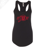 Circle and Feather w/Utah Stripe Single Color- Womens Tank Top