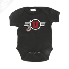 Circle and Feather w/Utah Stripe - Onesie