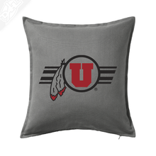 Load image into Gallery viewer, Circle and Feather w/Utah Stripe - Pillow