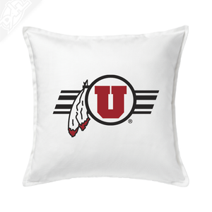 Circle and Feather w/Utah Stripe - Pillow