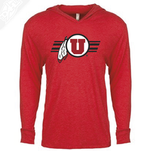 Load image into Gallery viewer, Circle and Feather w/Utah Stripe - T-Shirt Hoodie