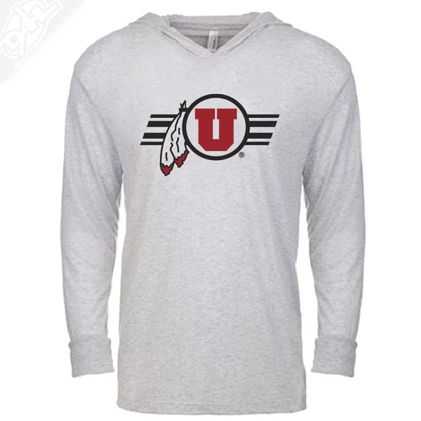 Circle and Feather w/Utah Stripe - T-Shirt Hoodie