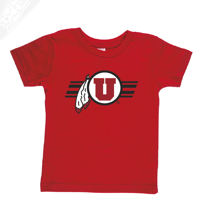 Circle and Feather w/Utah Stripe- Infant/Toddler Shirt