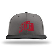 Load image into Gallery viewer, Charcoal W/Black Brim Performance Series Hat