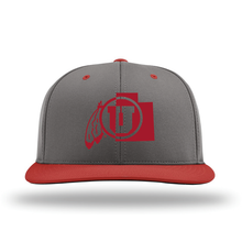 Load image into Gallery viewer, Charcoal W/Red Brim Performance Series Hat