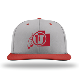 Gray W/Red Brim Performance Series Hat