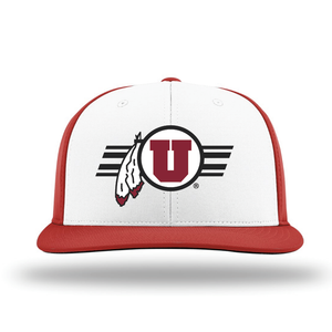 White/Red Performance Series Hat