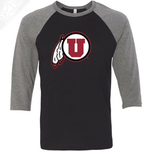 Load image into Gallery viewer, Circle and Feather - 3/4 Sleeve Baseball Shirt