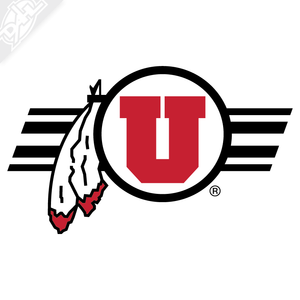Circle and Feather Utah Stripe 2 Color Vinyl Decal