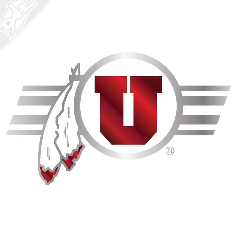 Circle and Feather Utah Stripe 2 Color Chrome Vinyl Decal