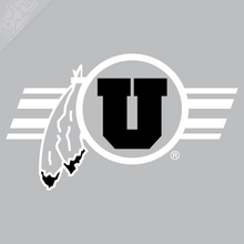 Load image into Gallery viewer, Circle and Feather Utah Stripe 2 Color Vinyl Decal