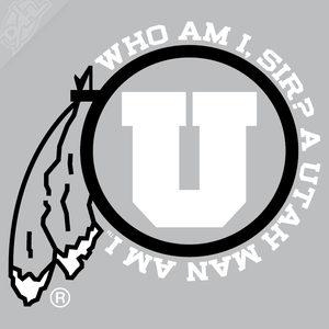 Utah Man am I 2 Color Vinyl Decal