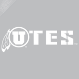 Circle and Feather - UTES Vinyl Decal