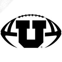 Load image into Gallery viewer, Block U Football Vinyl Decal