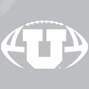 Block U Football Vinyl Decal