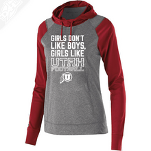 Girls like Utah Football Womens Red Echo Hoodie