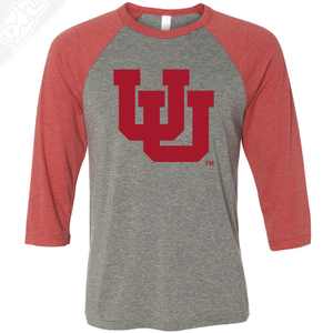Interlocking UU Single Color - 3/4 Sleeve Baseball Shirt
