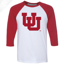 Load image into Gallery viewer, Interlocking UU Single Color - 3/4 Sleeve Baseball Shirt