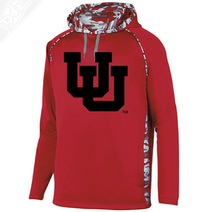 Interlocking UU Single Color - Red Mod Camo Hoodie