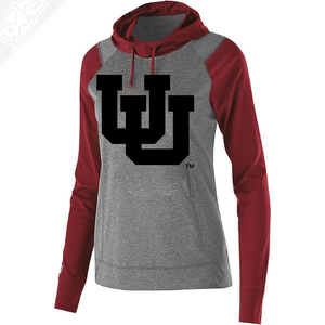 Interlocking UU Single Color - Womens Echo Hoodie