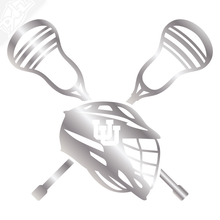 Load image into Gallery viewer, Lacrosse Helmet and Sticks - Lacrosse Vinyl Decal