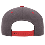 Charcoal W/Red Bill Classic Flat Bill Snapback