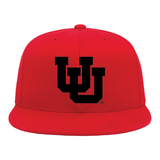 Red Classic Flat Bill Snapback