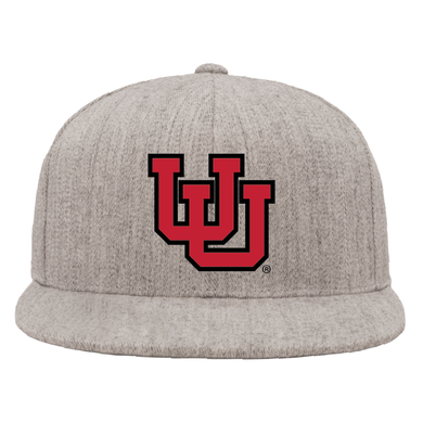 Heather Gray Classic Flat Bill Snapback