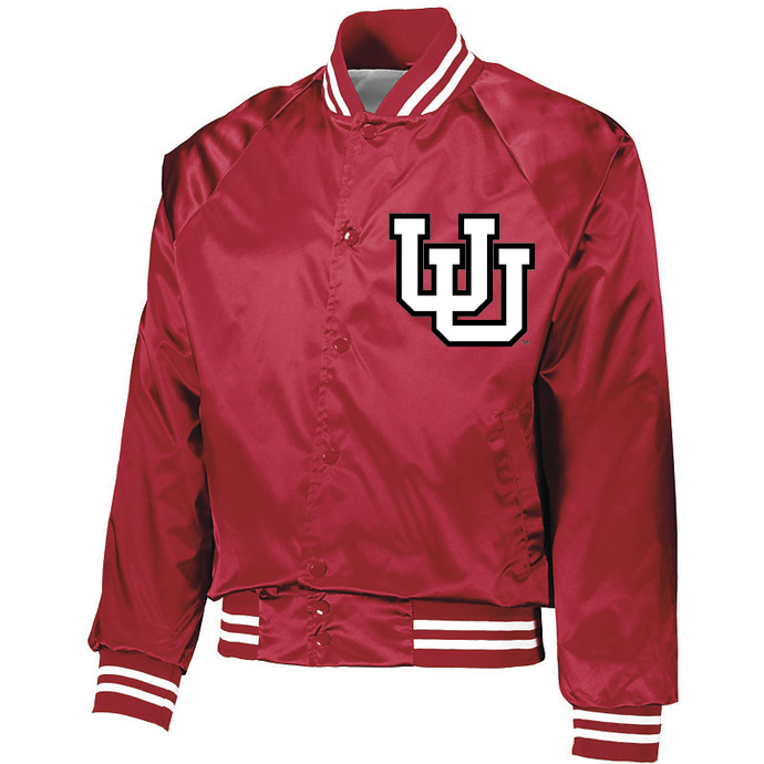 Youth Red Satin Baseball Jacket