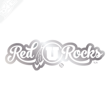 Red Rocks Script Vinyl Decal