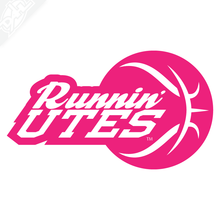 Runnin' Utes Ball Vinyl Decal