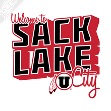Sack Lake City 2 Color Vinyl Decal