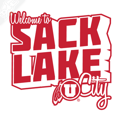 Sack Lake City Outlined Vinyl Decal